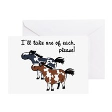 Paint horses, one of each. Greeting Card