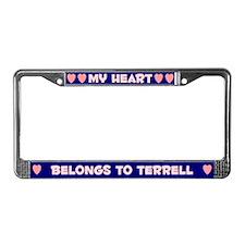 My Heart: Terrell (#008) License Plate Frame