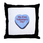 My First Valentine's Day Throw Pillow