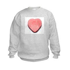 Valentine's Day Candy Heart R Kids Sweatshirt