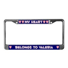 My Heart: Valeria (#008) License Plate Frame