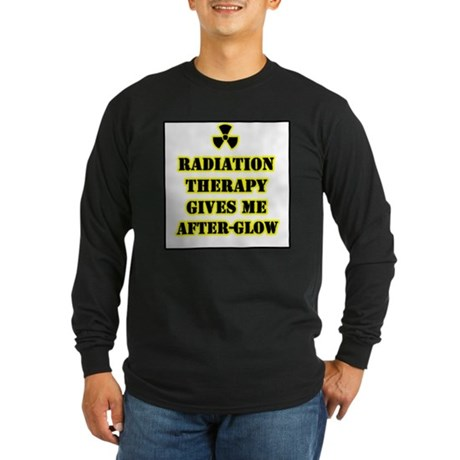Radiation Therapy Long Sleeve Dark T-Shirt