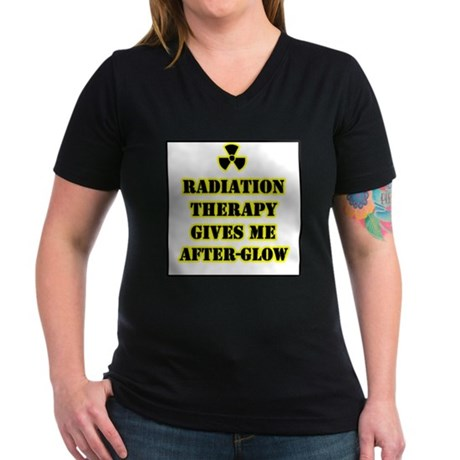 Radiation Therapy Women's V-Neck Dark T-Shirt