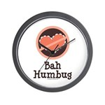 Anti-Valentines Bah Humbug Wall Clock