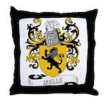 Wells Coat of Arms Throw Pillow