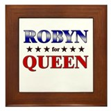 ROBYN for queen Framed Tile