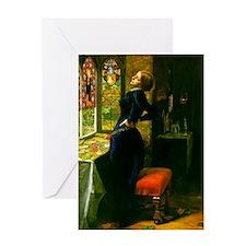 Millais Mariana Greeting Card