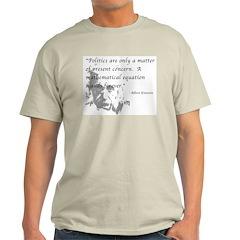 Math vs. Politics Ash Grey T-Shirt