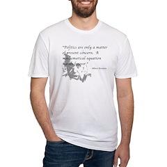 Math vs. Politics Fitted T-Shirt