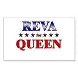 REVA for queen Rectangle Decal