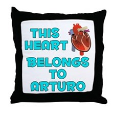 This Heart: Arturo (B) Throw Pillow