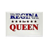 REGINA for queen Rectangle Magnet