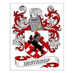 Winthrop Coat of Arms Small Poster