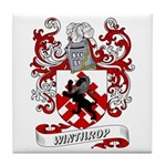 Winthrop Coat of Arms Tile Coaster