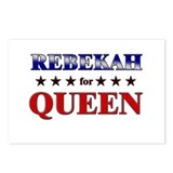 REBEKAH for queen Postcards (Package of 8)