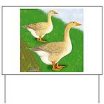Goose and Gander Yard Sign