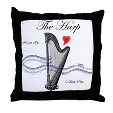 'The Harp' Throw Pillow