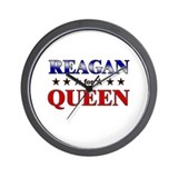 REAGAN for queen Wall Clock