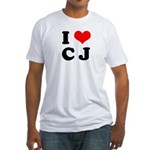 I Love CJ -  Fitted T-Shirt