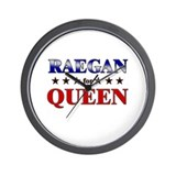 RAEGAN for queen Wall Clock