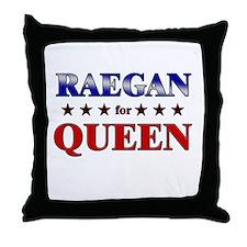 RAEGAN for queen Throw Pillow
