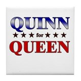 QUINN for queen Tile Coaster
