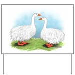Sebastopol Goose Pair Yard Sign