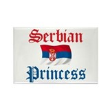 Serbian Princess Rectangle Magnet