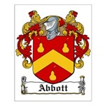 Abbott Family Crest Small Poster
