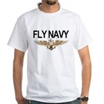 Fly Navy Wings White T-Shirt