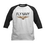 Fly Navy Wings Kids Baseball Jersey