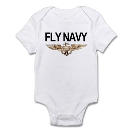 Fly Navy Wings Infant Bodysuit