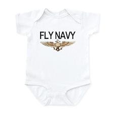 Fly Navy Wings Onesie