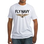 Fly Navy Wings Fitted T-Shirt