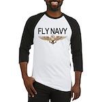 Fly Navy Wings Baseball Jersey