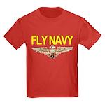 Fly Navy Wings Kids Dark T-Shirt