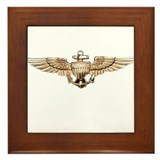 Wings of Gold Framed Tile