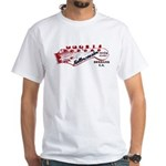 Rollercoaster White T-Shirt