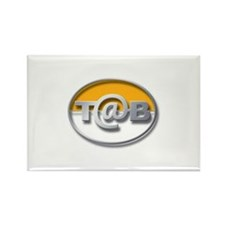 Unique Tab Rectangle Magnet (10 pack)