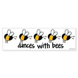 dances with bees Bumper Car Sticker