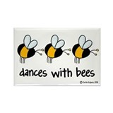 dances with bees Rectangle Magnet