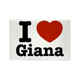 I love Giana Rectangle Magnet