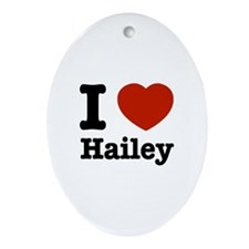 I love Hailey Oval Ornament