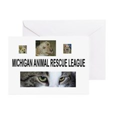 Cute Rescue animals Greeting Cards (Pk of 10)