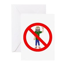 no hippies Greeting Cards (Pk of 10)