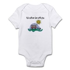 I'd Rather be with Pa! Baby Onesie