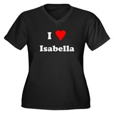 I Love Isabella Women's Plus Size V-Neck Dark T-Sh