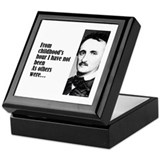 "Poe ""Childhood's Hour"" Keepsake Box"
