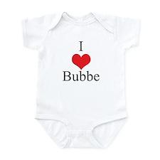I Love (Heart) Bubbe Infant Bodysuit