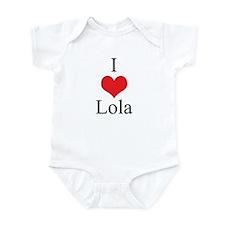 I Love (Heart) Lola Infant Bodysuit